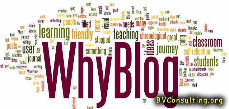 Reason Why We Should Blog