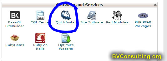 cPanel WordPress Quick Install